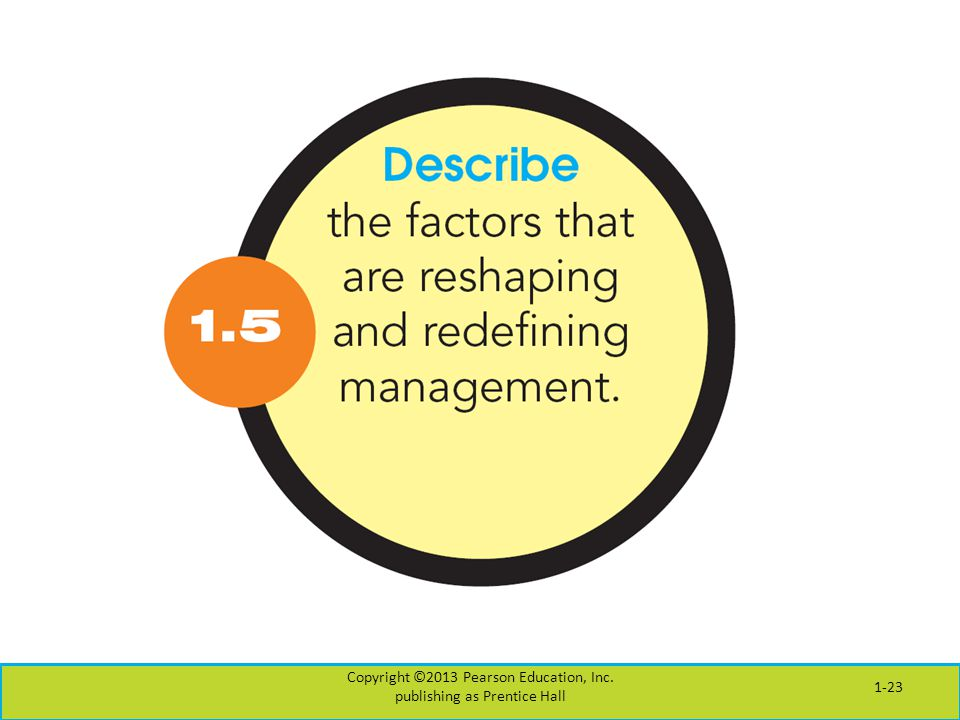 Copyright ©2013 Pearson Education, Inc. publishing as Prentice Hall 1-23