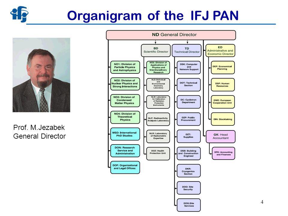 Pawel Olko, IEEE meeting, 30.06.2008 4 Organigram of the IFJ PAN Prof. M.Jezabek General Director