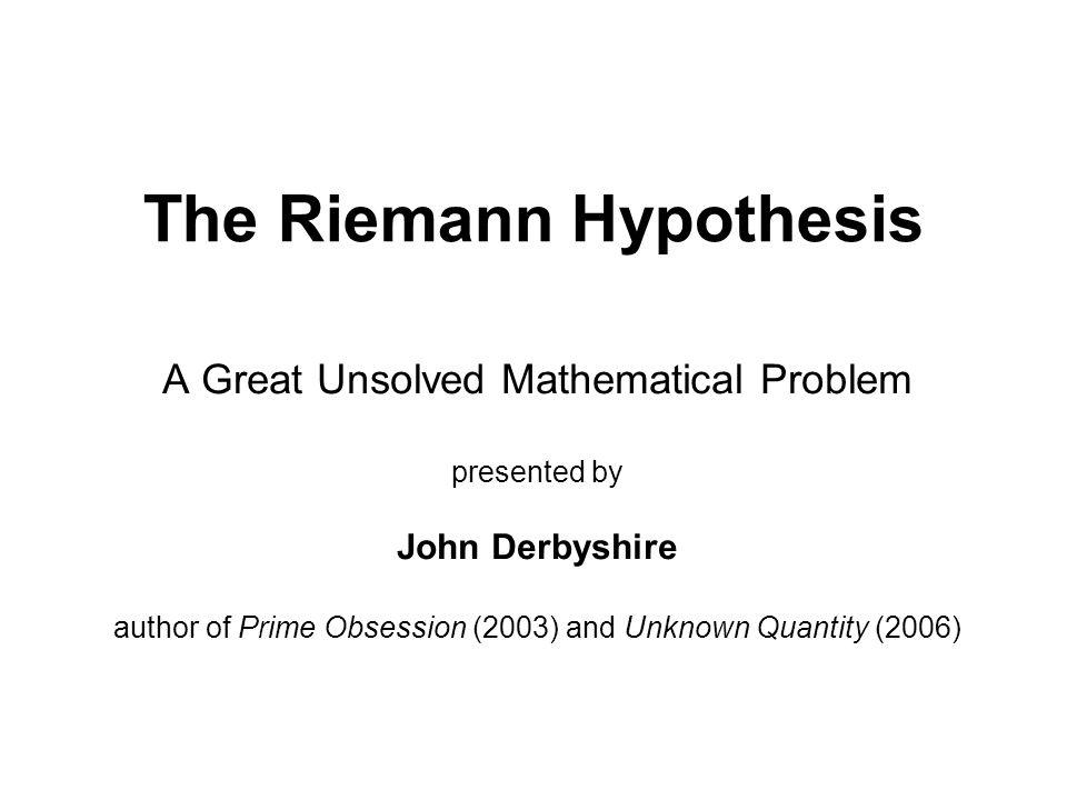 Mr. Derbyshire's Math Books