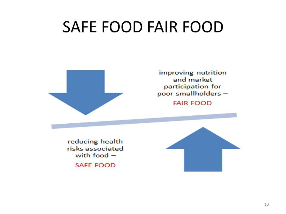 SAFE FOOD FAIR FOOD 13