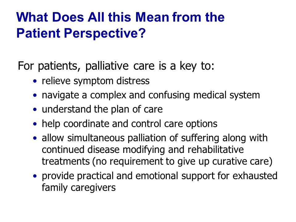 Palliative Care Leadership Centers Six exemplary programs for 2.5 d.