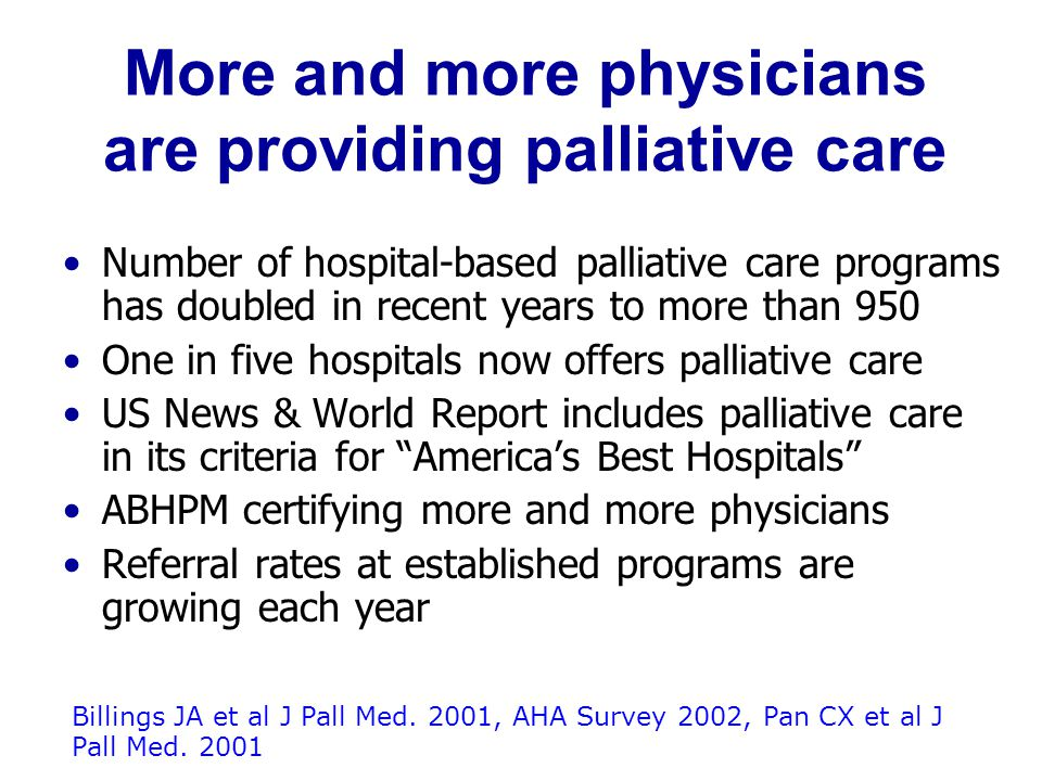 Domains of Palliative Care Communication, help with medical decision-making Expert symptom assessment and treatment Psychosocial and practical support, care coordination, and bereavement services