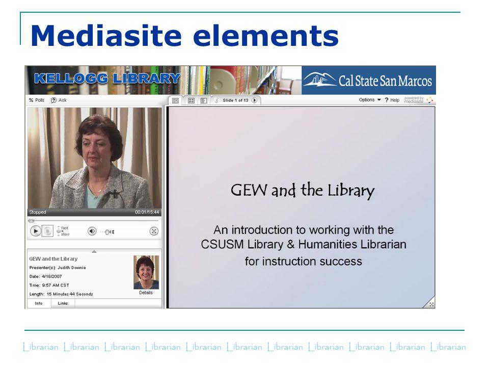 Mediasite elements