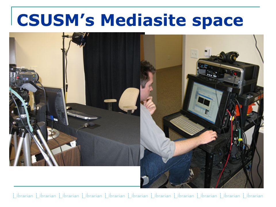 CSUSM's Mediasite space