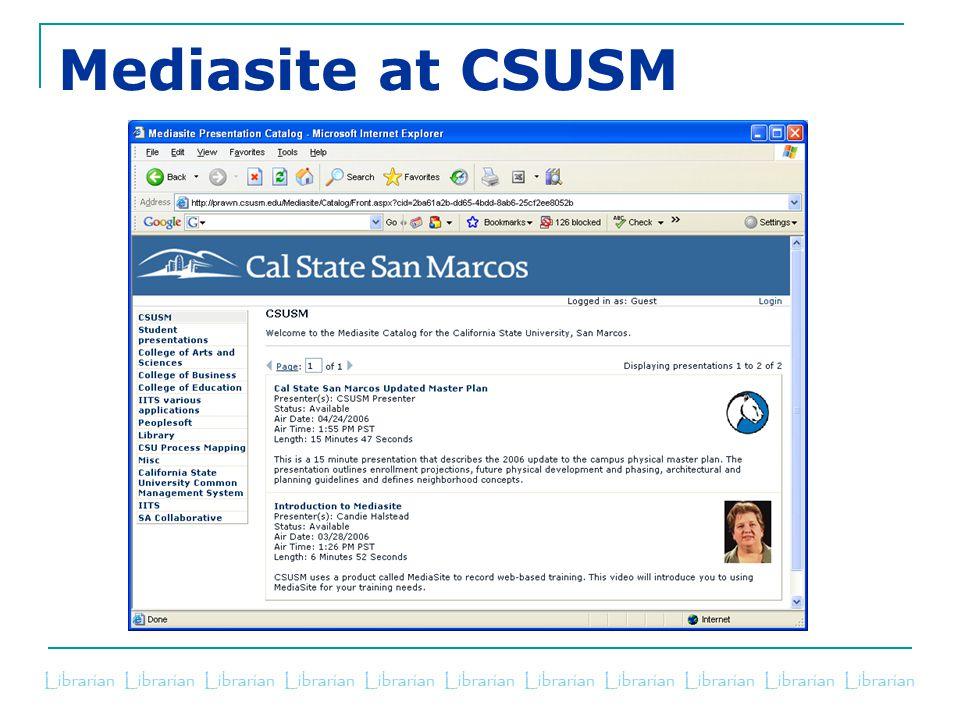 Mediasite at CSUSM
