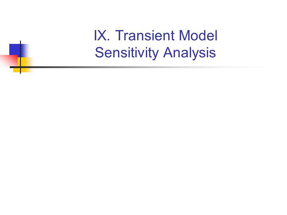 IX. Transient Model Sensitivity Analysis