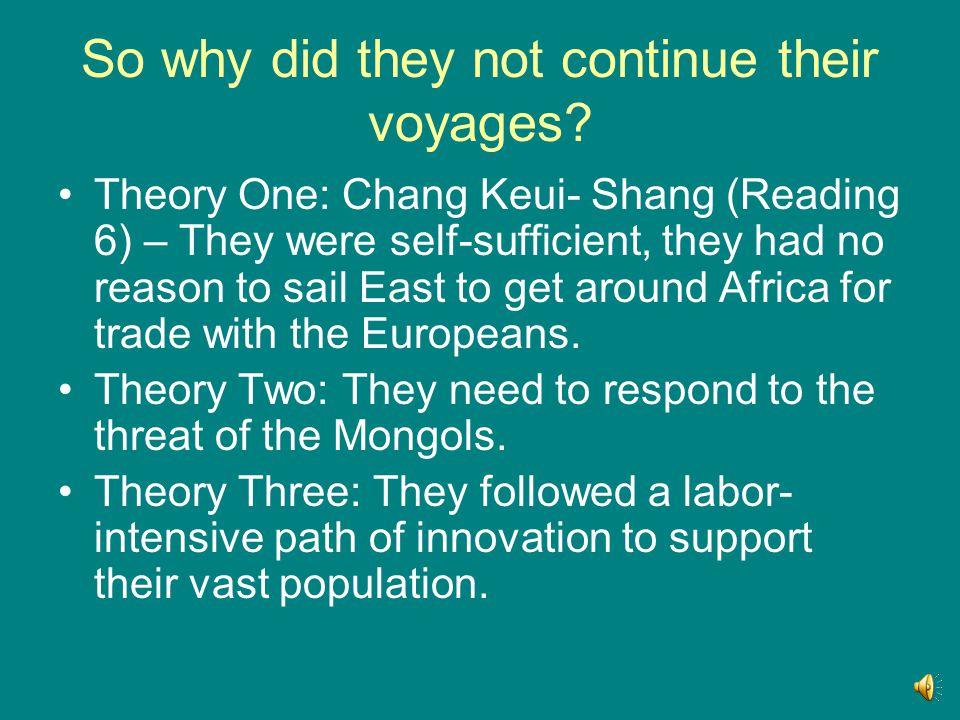 Zheng He's Treasure Fleet Primary source evidence: Reading 5 (p.23) Ku P'o, 1433