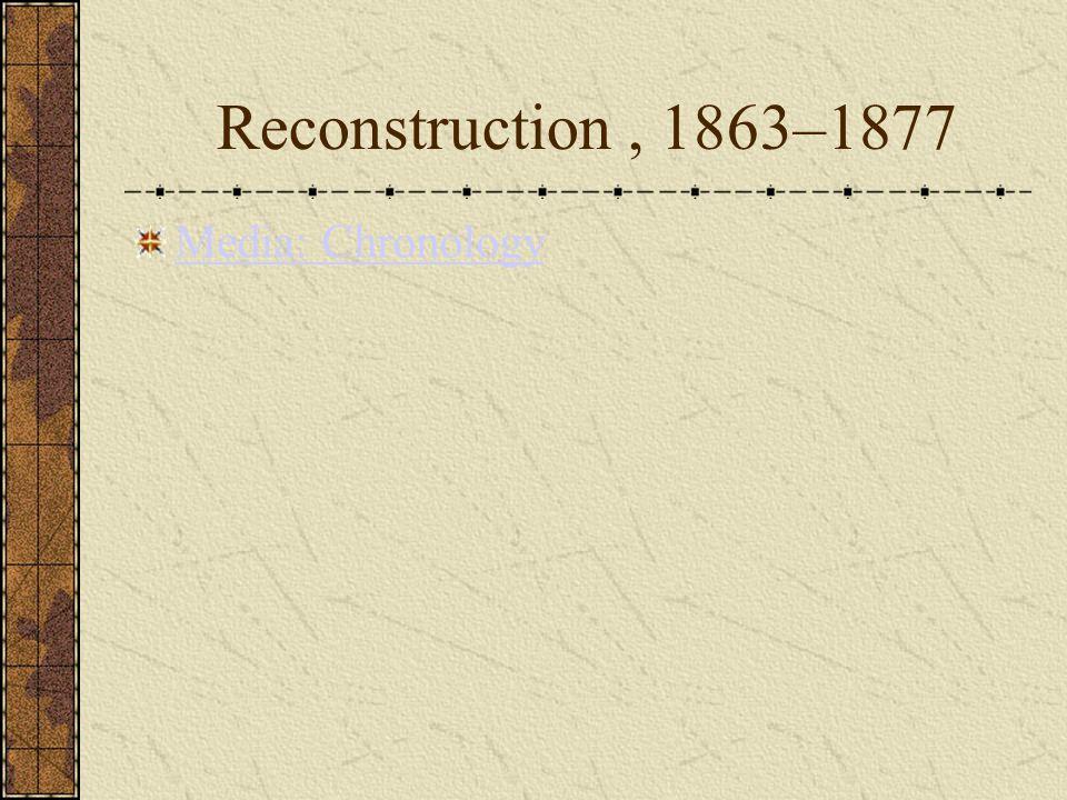 Reconstruction, 1863–1877 Media: Chronology