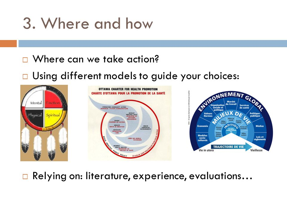 3. Where and how  Where can we take action.