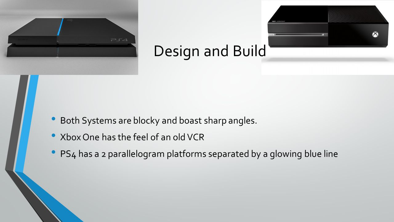 Design and Build Both Systems are blocky and boast sharp angles.