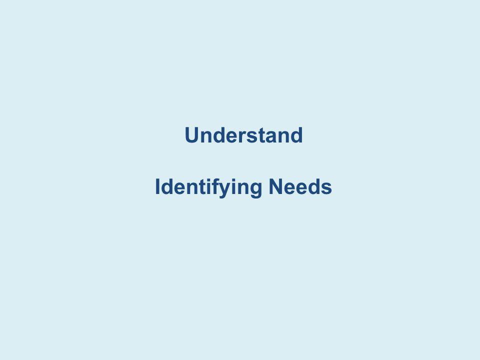 Understand Identifying Needs
