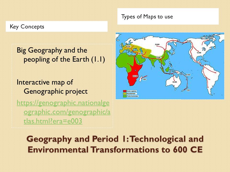 Key Concepts Types of Maps to use 1.2.