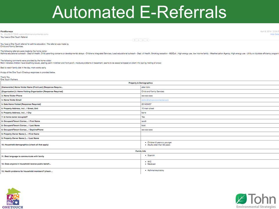 Automated E-Referrals