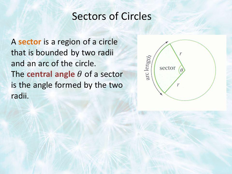 Sectors of Circles
