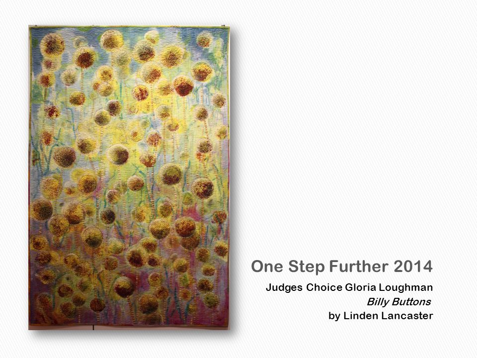 Judges Choice Gloria Loughman Billy Buttons by Linden Lancaster