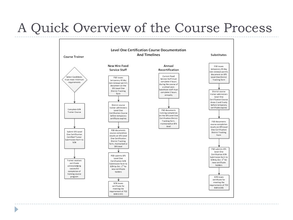 A Quick Overview of the Course Process