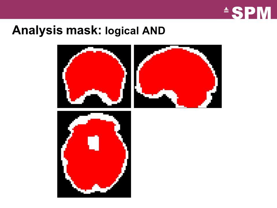 Analysis mask: logical AND 16 0 4 8 12