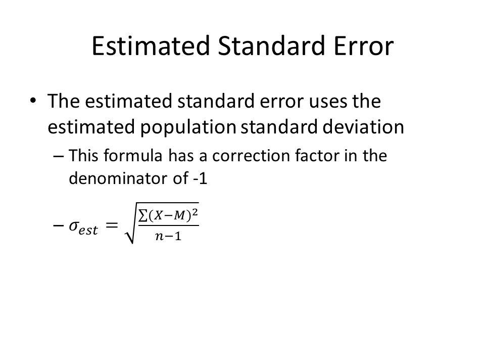 Estimated Standard Error