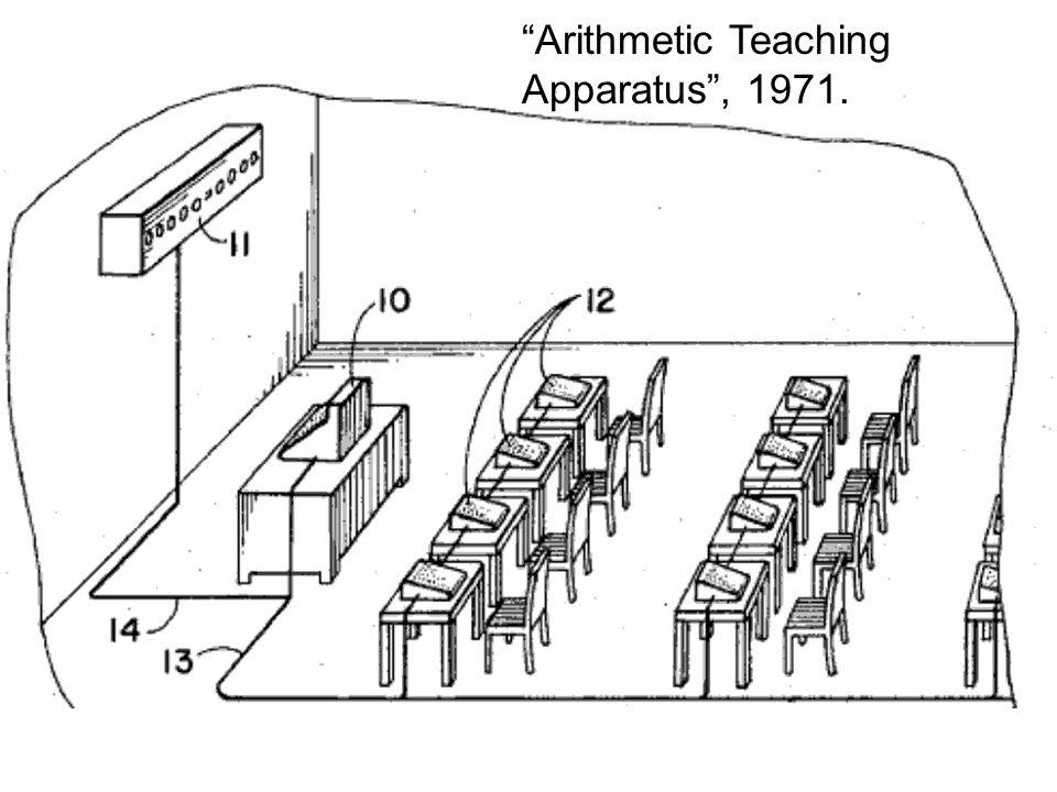 """""""Arithmetic Teaching Apparatus"""", 1971."""