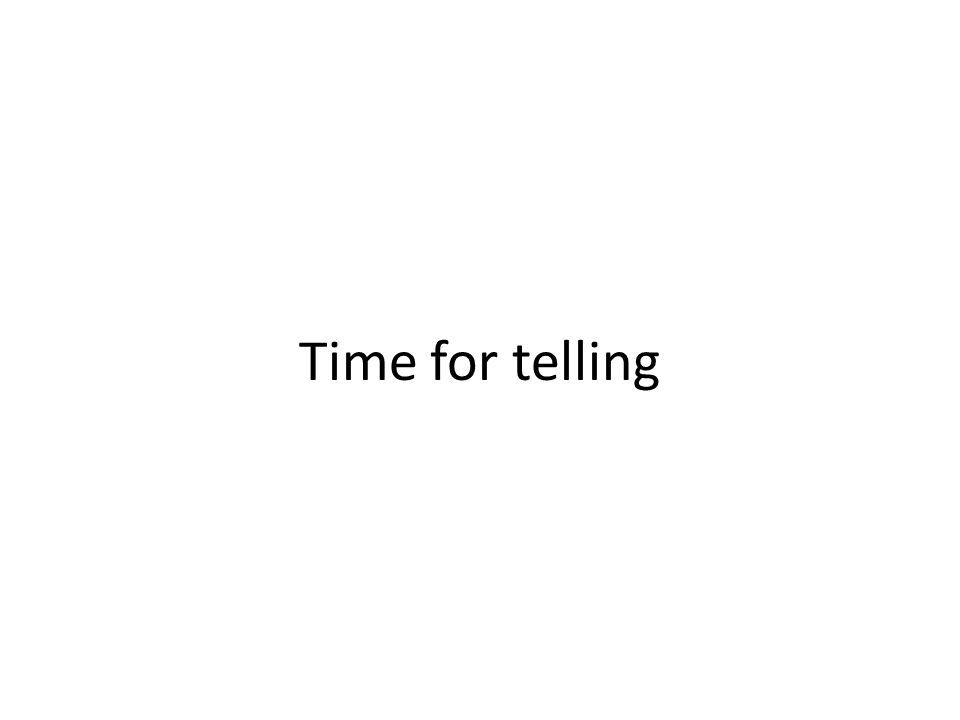 Time for telling