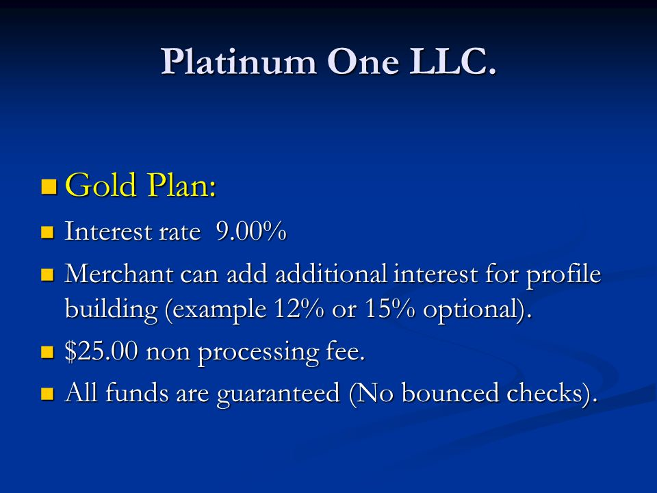 Platinum One LLC.