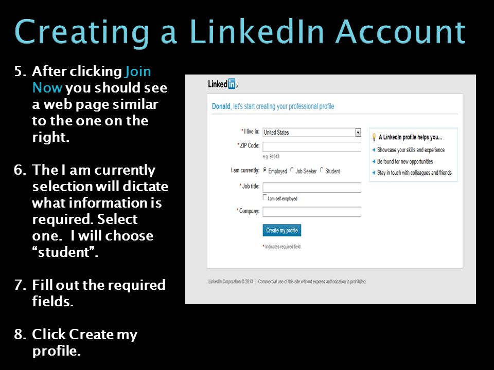 5.After clicking Join Now you should see a web page similar to the one on the right.