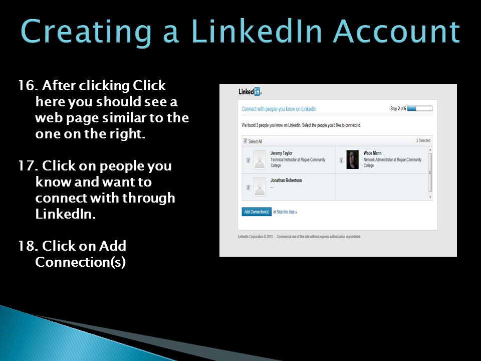16. After clicking Click here you should see a web page similar to the one on the right.