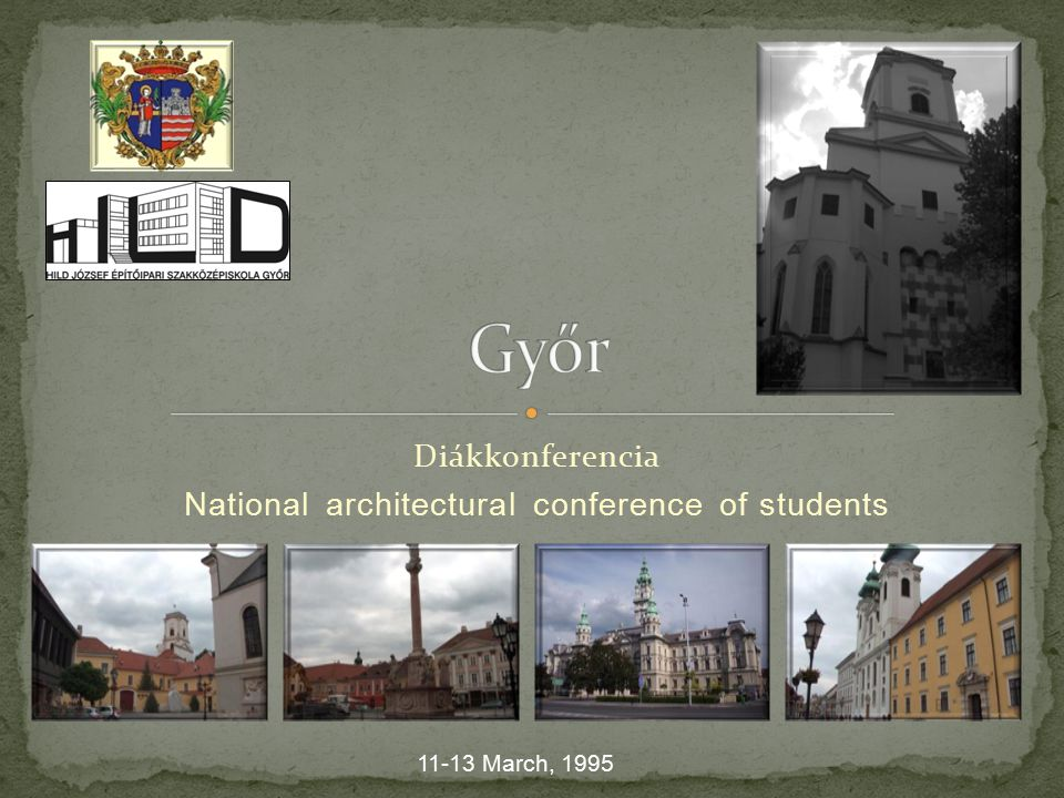 Preservation of architectural values Topic: The folk architecture of the Small Hungarian Plain The protectors of the conference József Balogh major Pál Seenger the secretary – general of the Associotion Scientific Architecture Tibor Kottmayer Lecturer of the national Bureau of Monuments-protection