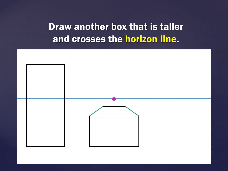 Draw another box that is taller and crosses the horizon line.