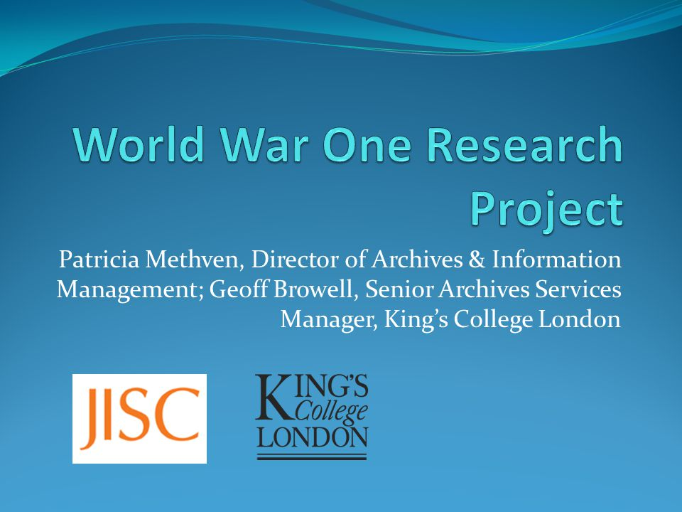 Patricia Methven, Director of Archives & Information Management; Geoff Browell, Senior Archives Services Manager, King's College London