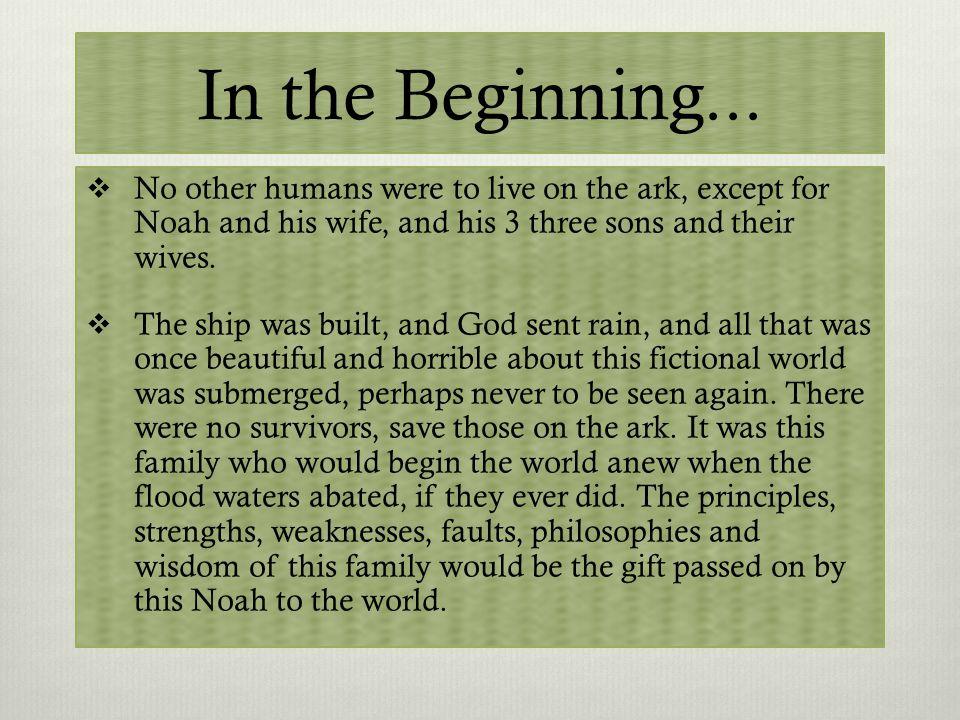 Why Genesis.