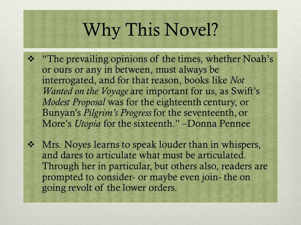 Novel as Parable.