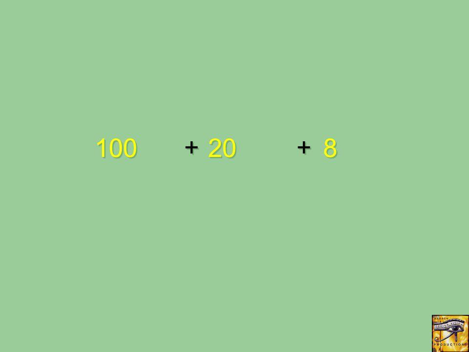 + + 100 20 8 8