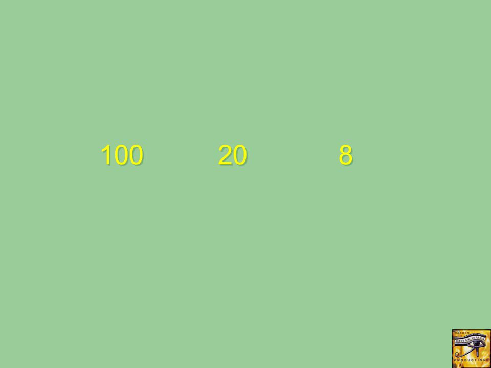 100 20 8 8
