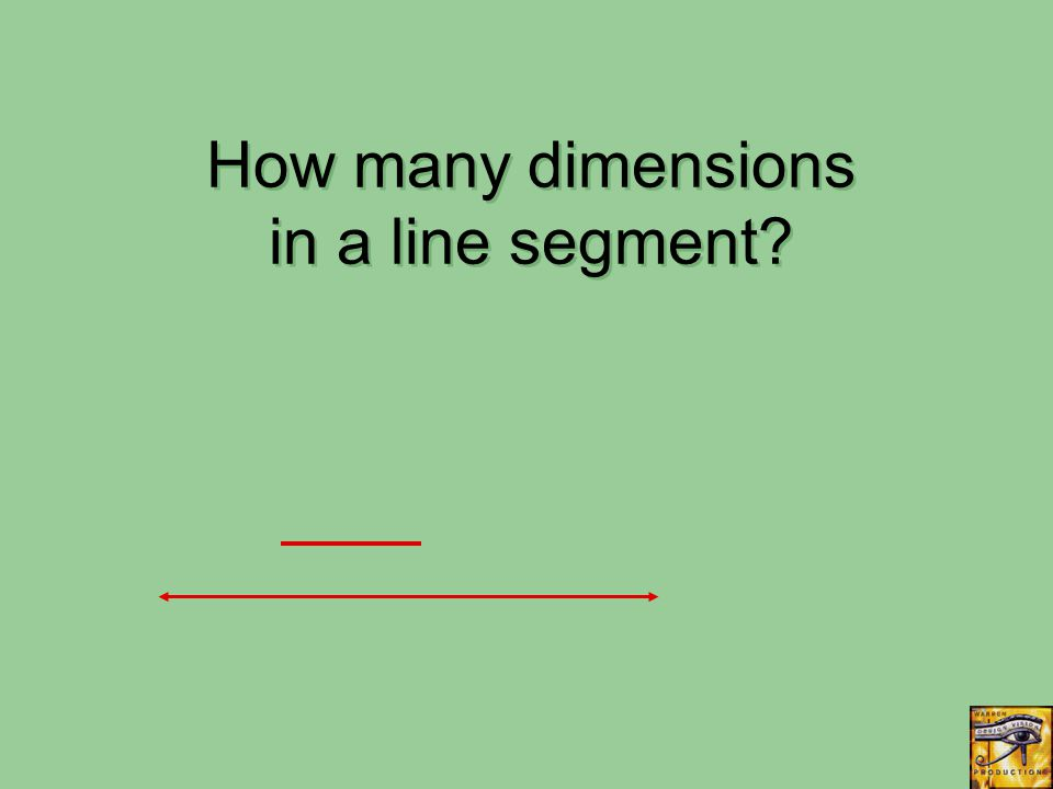 How many dimensions in a line segment?