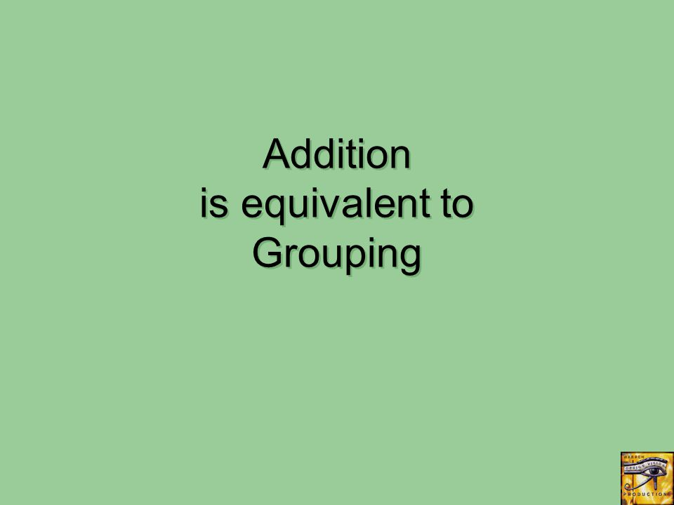 Addition is equivalent to Grouping