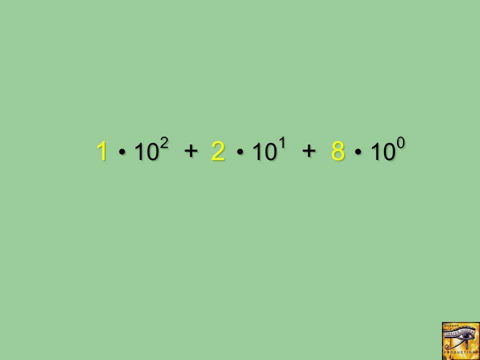 10 2 + 10 1 + 10 0 1 1 2 2 8 8
