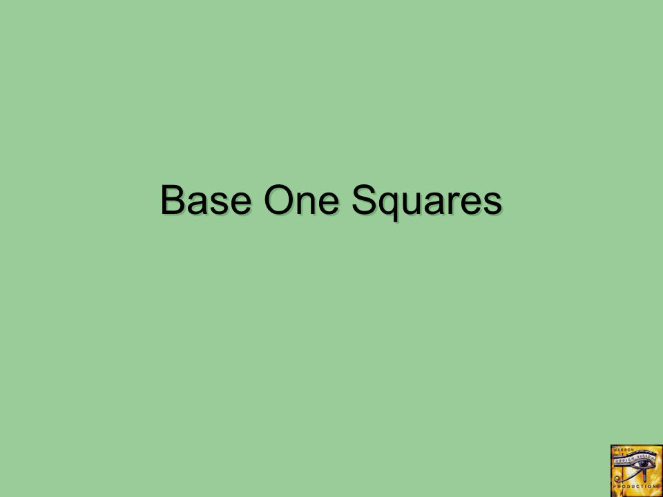 Base One Squares