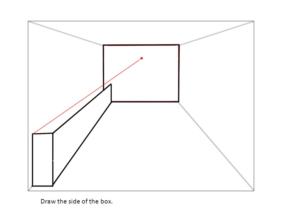 Draw the side of the box.