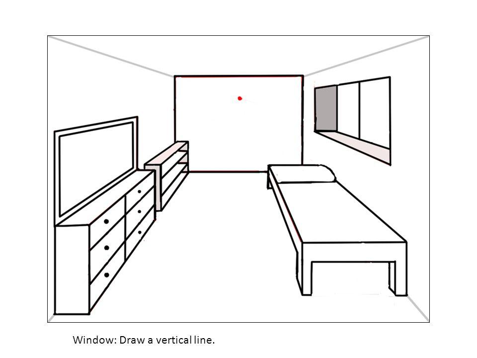 Window: Draw a vertical line.