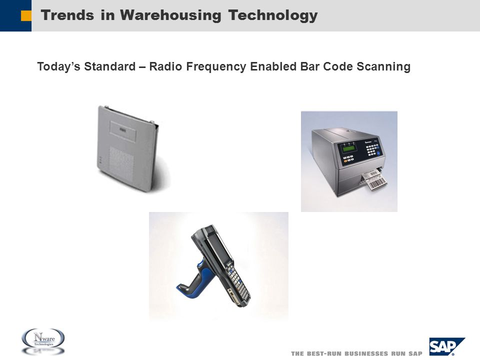 Trends in Warehousing Technology Today's Standard – Radio Frequency Enabled Bar Code Scanning