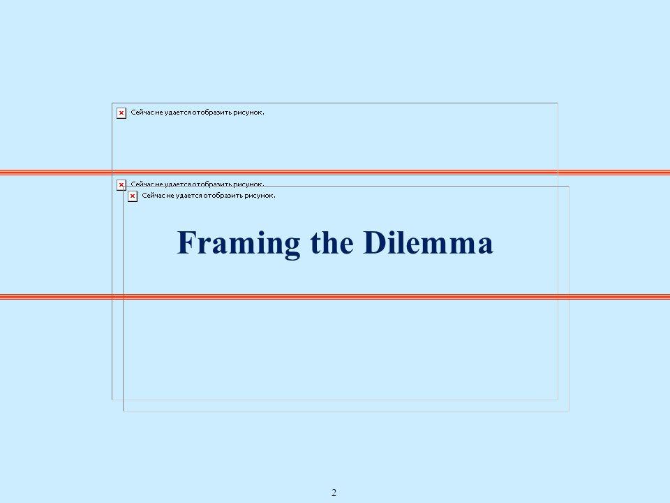 Framing the Dilemma 2