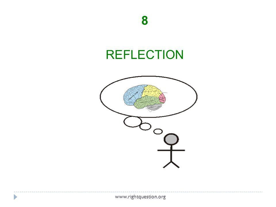 8 REFLECTION www.rightquestion.org