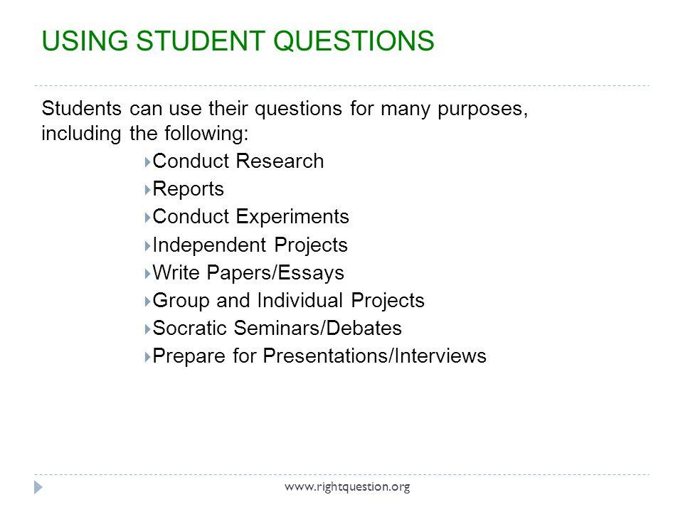 COMPONENTS OF THE QUESTION FORMULATION TECHNIQUE™ 1.