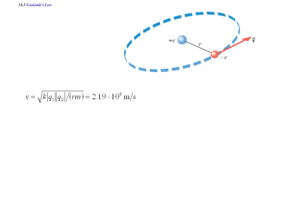 18.5 Coulomb's Law