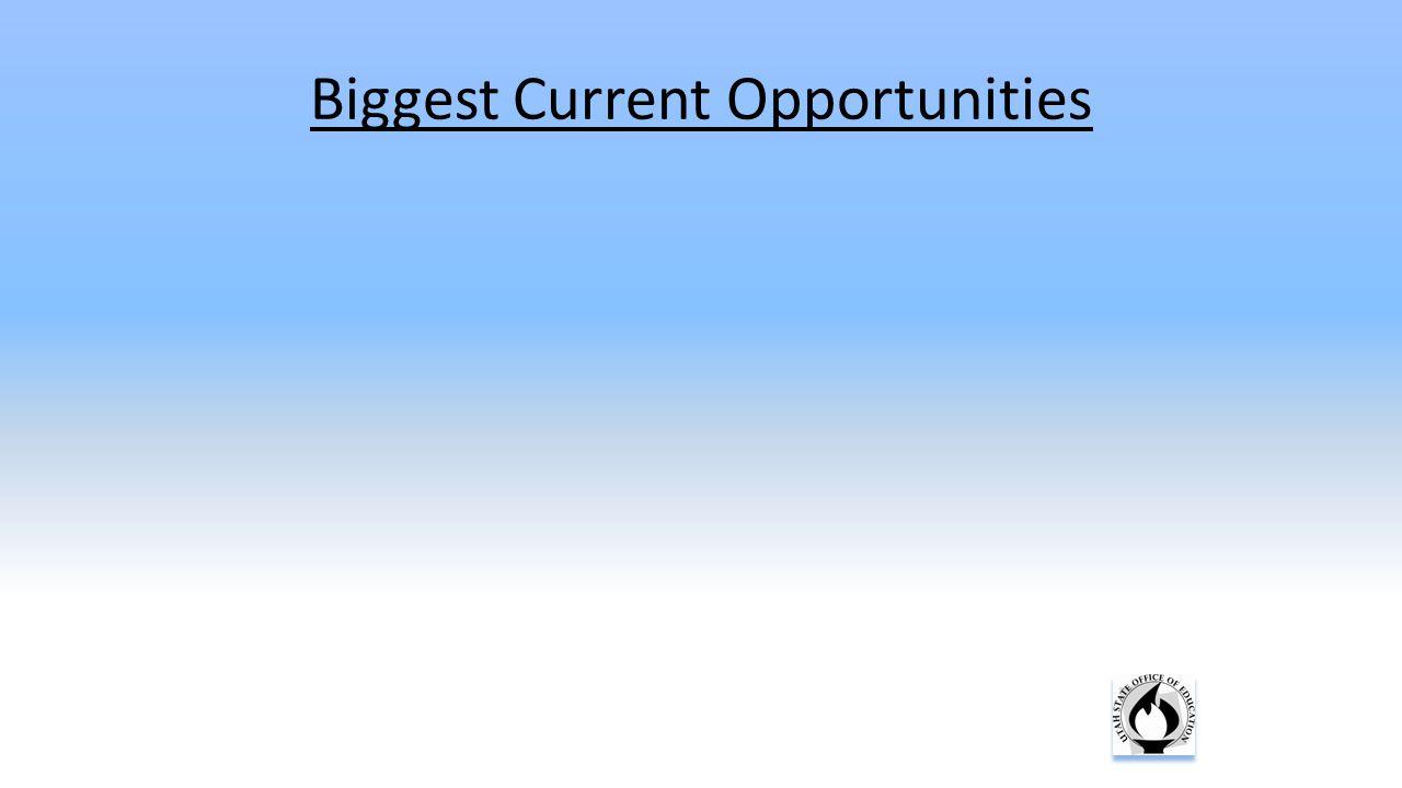 Biggest Current Opportunities