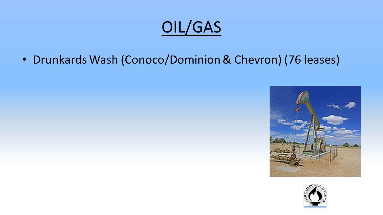 OIL/GAS Drunkards Wash (Conoco/Dominion & Chevron) (76 leases)
