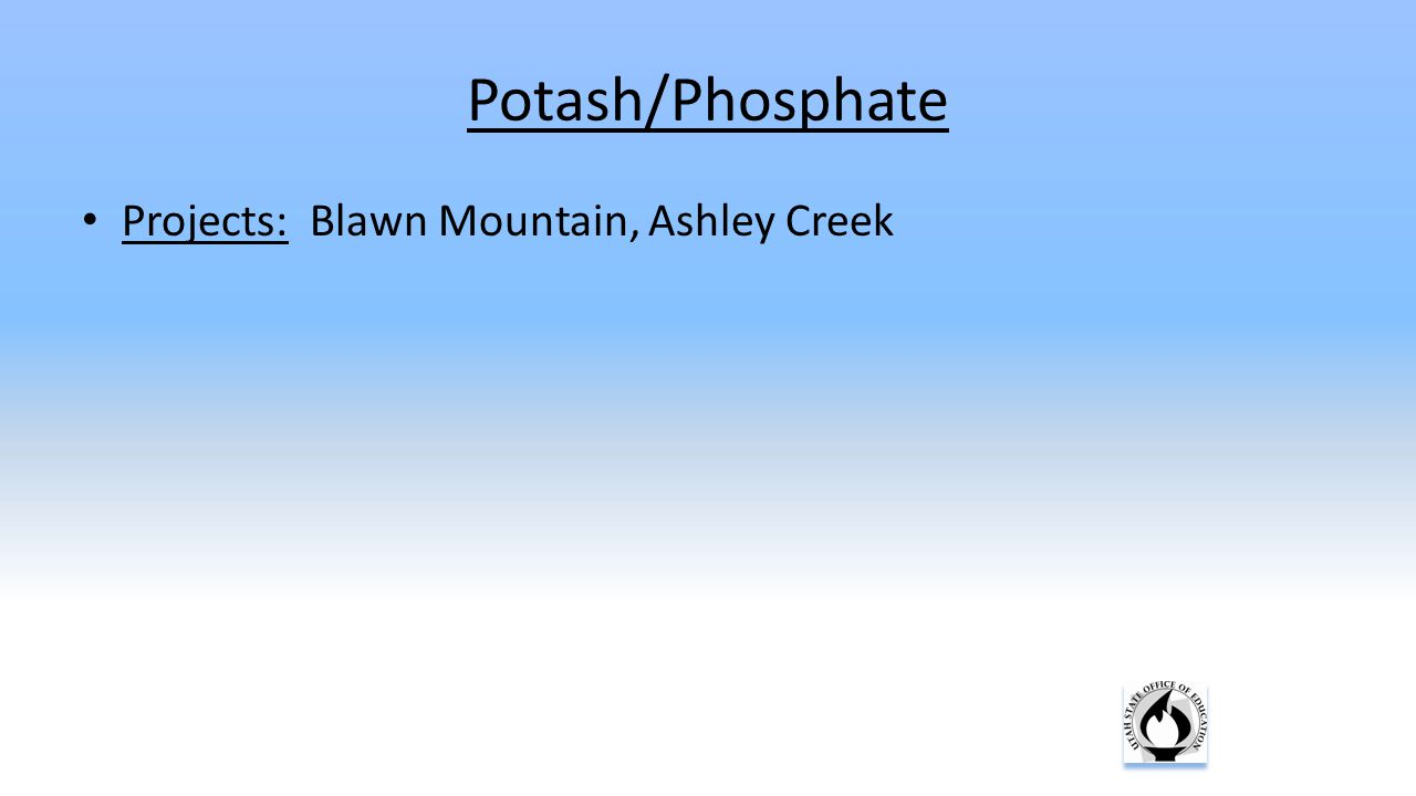 Projects: Blawn Mountain, Ashley Creek