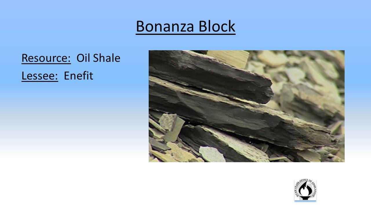 Bonanza Block Resource: Oil Shale Lessee: Enefit