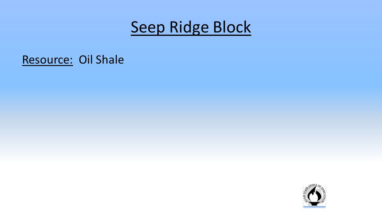 Resource: Oil Shale